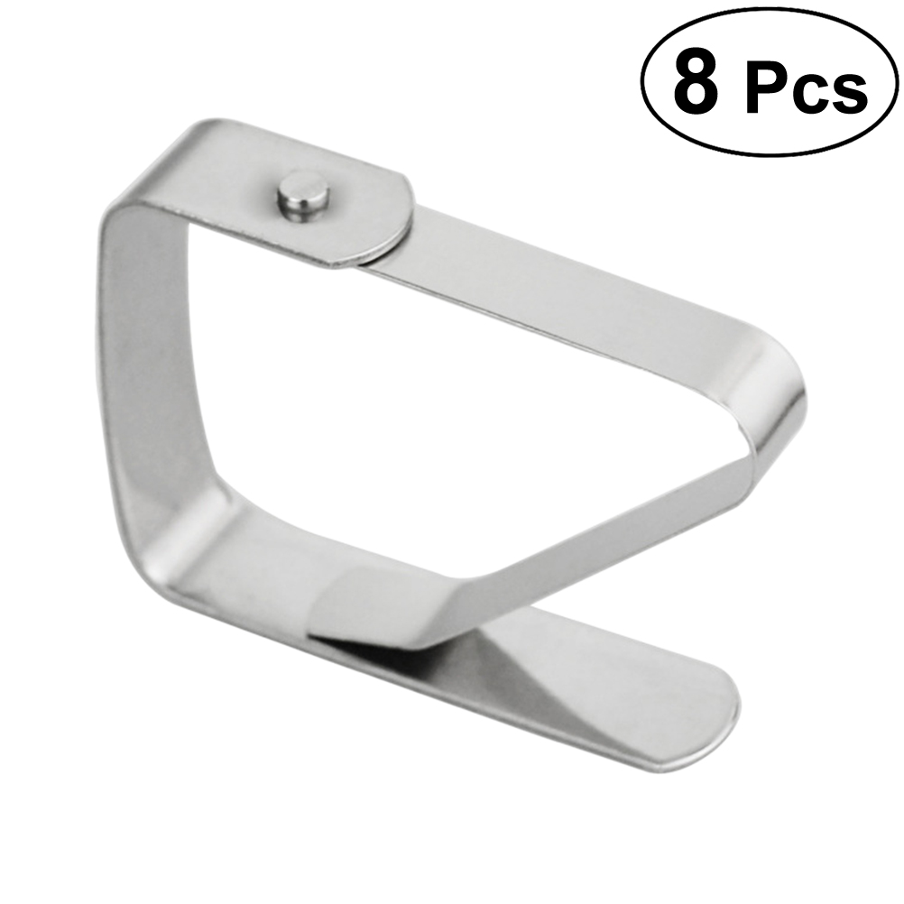 8pcs Stainless Steel Square Tablecloth Clips Table Cover Clamps Adjustable Table Cloth Clamps Holder for Wedding Picnic Kitchen8pcs Stainless Steel Square Tablecloth Clips Table Cover Clamps Adjustable Table Cloth Clamps Holder for Wedding Picnic Kitchen