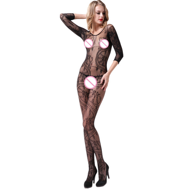 Sexy negro Bodystockings sexo juguetes erotic lingerie lace pijamas  productos del sexo del Kimono mujeres crotchless 211175cffcad
