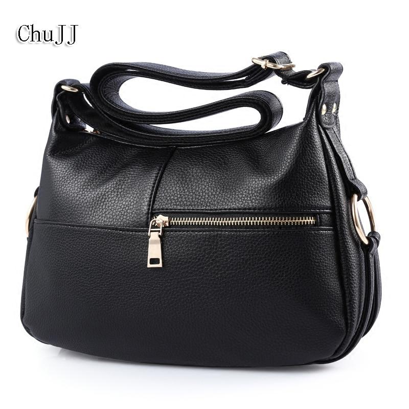 Hot Sale Women Leather Handbags Shoulder Bag For Women Messenger Bags, Big Size Hobos Bags Bolsas Feminina цена