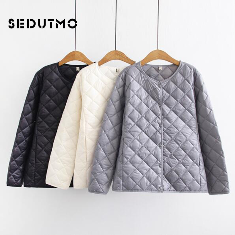 SEDUTMO Winter Plus Size 4XL Ultra Light Down Jackets Women Short Duck Down Coat Casual Puffer Jacket Black Autumn Parkas ED512