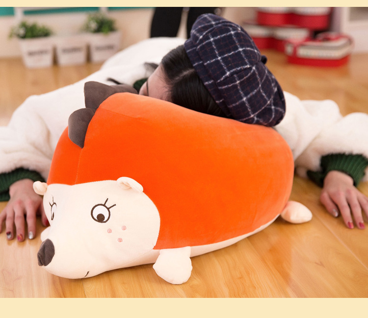 big new plush hedgehog toy lovely orange hedgehog doll birthday gift about 60cm huge lovely panda toy big plush panda with stripe clothes birthday gift about 90cm