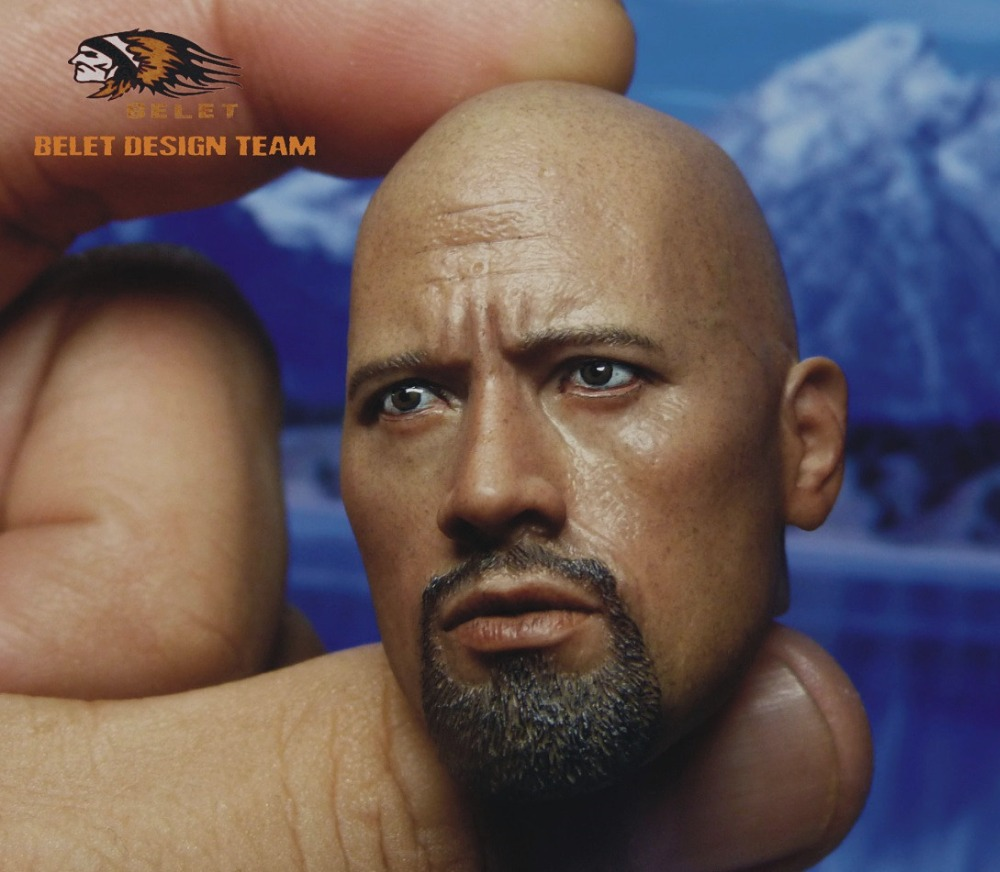 1/6 scale figure head shape for 12 Action figure doll Fast & Furious Luke Hobbs Dwayne Johnson head for doll, not include body brand new 1 6 scale fast
