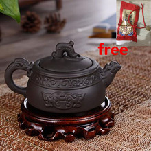 Wholsale Handmade Cloud Dragon Pot With Tea Infuser Teapot Red Black Clay