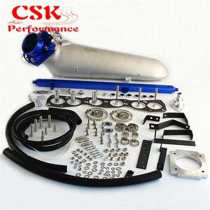 Image 5 - 흡기 매니 폴드 + vq35 80mm 스로틀 바디 + toyota supra 2 용 연료 레일 jzgte jza80 93 98