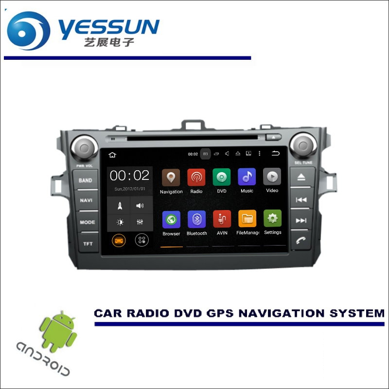 YESSUN For Toyota Auris / Corolla Hatchback 2007~2012 CD DVD GPS Player Radio Stereo Car Multimedia Navigation Wince / Android цена