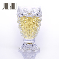 JOUDOO Creative Mermaid Shape Wine WaterCups Transparent Glass Home Kitchen Drinkware Wine Beer Bottle For Bar