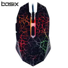 Professional Wired Gaming Mouse 2400DPI Adjustable 6 Buttons Cable USB Optical Gamer Mouse Mice For PC Computer Laptop