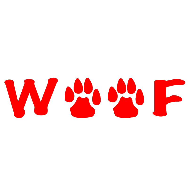 Woof Cute Dog Pattern Paw Art Graphics Car Sticker for Truck Window Bumper Door Laptop Kayak Motorcycles Vinyl Decal Christmas
