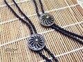Боло Галстук Ретро рубашка цепи спиральные щит Пуаро led веревка кожа ожерелье Длинный галстук повесить