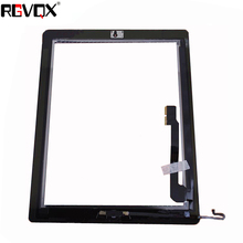 цены на RLGVQDX Replacement Parts For iPad 4 Touch Screen Digitizer For Ipad4 A1458 A1459 A1460 with Home Button and Adhesive  в интернет-магазинах