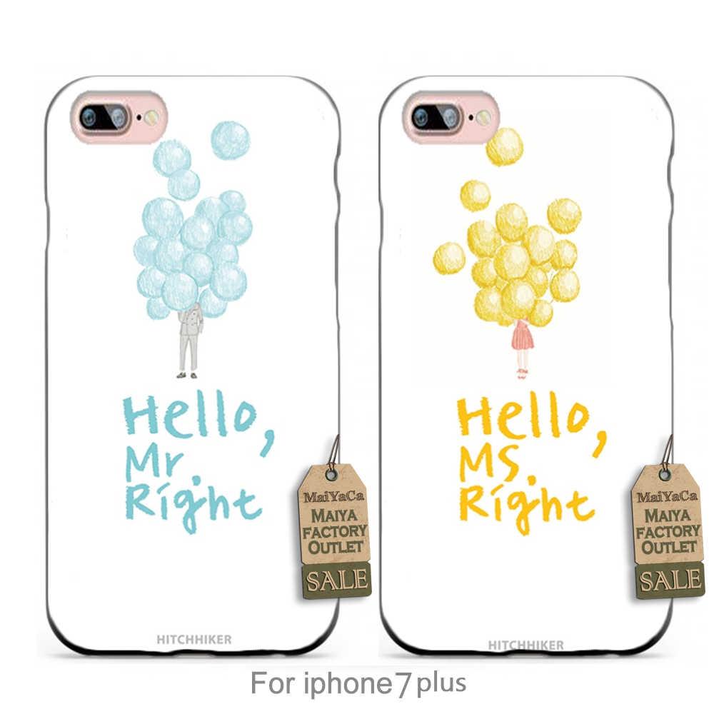 Aye ella mina, mina de aye él Patrón pareja De Goma Accesorios del teléfono Cove Para iPhone sí 5S 6 s 7 más caso