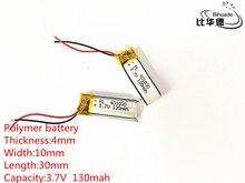 10pcs 3.7V,130mAH,401030 PLIB; polymer lithium ion / Li-ion battery for GPS,mp3,mp4,mp5,dvd,bluetooth,model toy mobile bluetooth