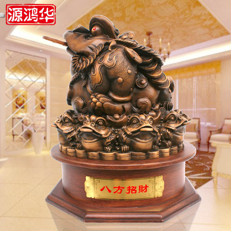home decoration accessories arge eight party lucky toad ornaments enrichment ornaments resin handicraft gift ornament