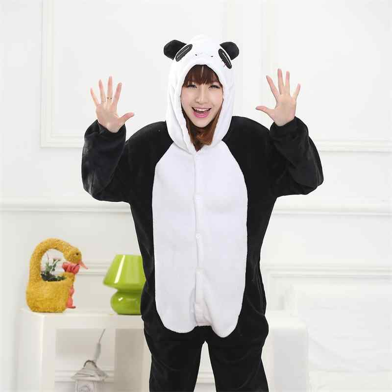 c36b7928f3 ... Totoro Kigurumi Onesie Adult Women Animal Pajamas Suit Flannel Warm  Soft Sleepwear Onepiece Winter Jumpsuit Pijama ...