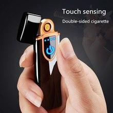 Touch cigarette lighter cigarette lighter USB lighter windproof flameless rechargeable electronic cigarette lighter smoking