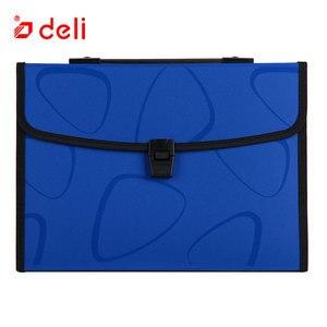 Image 4 - 델리 a4 크기 폴더 문서 가방 확장 파일링 스토리지 문서 파일 폴더 주최자 확장기 홀더 가방 비즈니스 서류 가방
