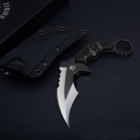 Karambit CS GO Counter Strike Knives D2 Survival knife fixed balde Hunting Knife tops tactical gear sharp Camping Tools