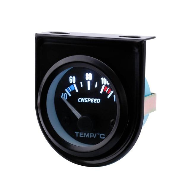 CNSPEED 52 ミリメートル車の水 Temperatur ゲージ車温度計ブラックフェイスパネル自動水温計メーター YC101261
