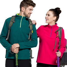 2017 Warm Trekking Hiking Outdoor Fleece Jacket Thermal Camping Clothing Camping Sports Plus Size Hiking