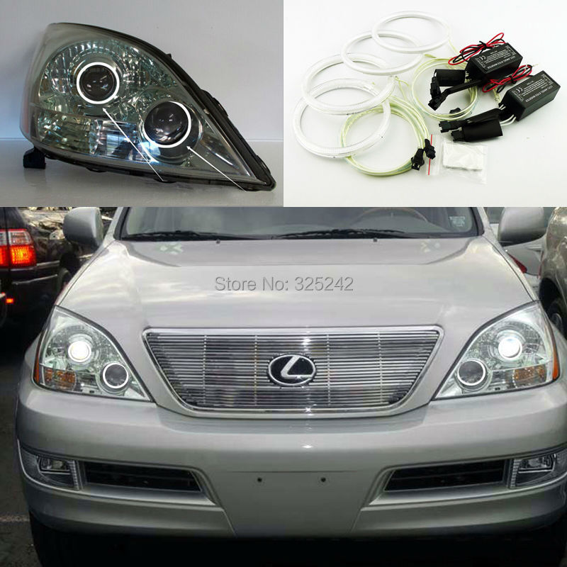 ФОТО For Lexus GX470 J120 2003 2004 2005 2006 2007 2008 2009 Excellent Angel Eyes kit Ultra bright illumination ccfl angel eyes kit