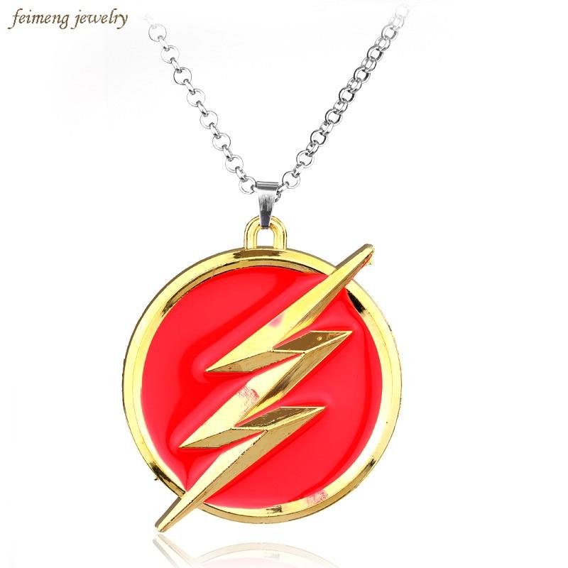Movie Superhero Red Flash Pendant Jewelry High Quality