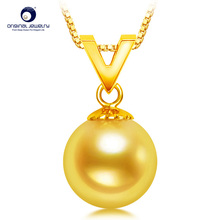 [YS] Victory Design 18k Gold Au750 Pendant 8-8.5mm Natural Cultured Saltwater Japanese Akoya Pearl Pendant 22 aaaaa top grading japanese akoya cultured pearl 7mm 14k white gold necklace