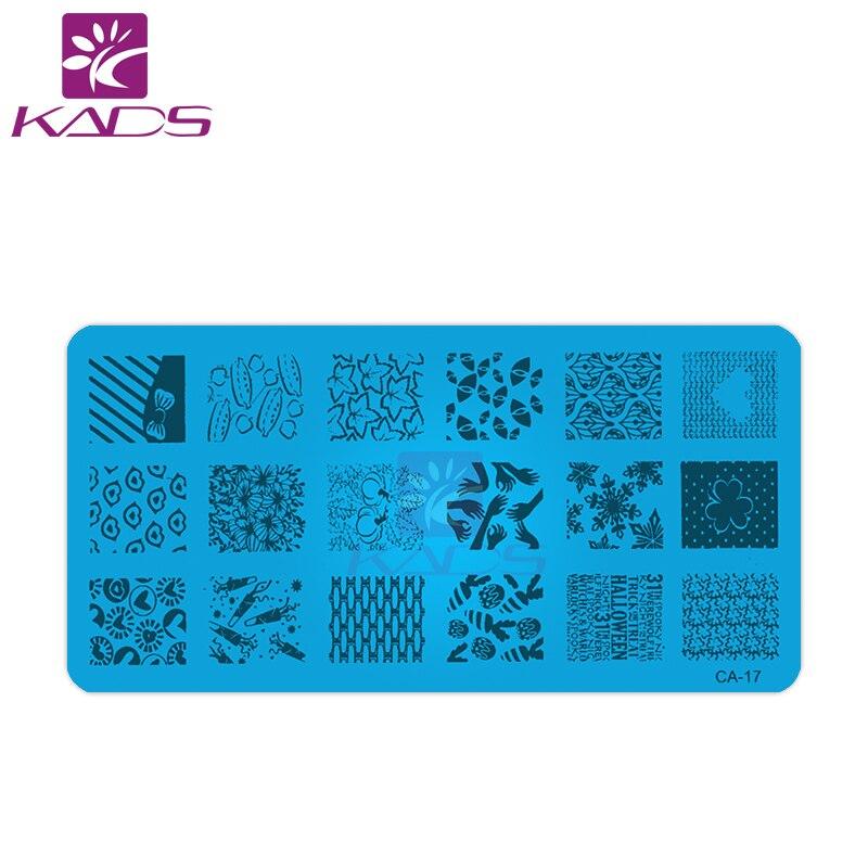 HOTSALE 3 unids/lote Nail Art estampado Stamper placas Set plantilla ...