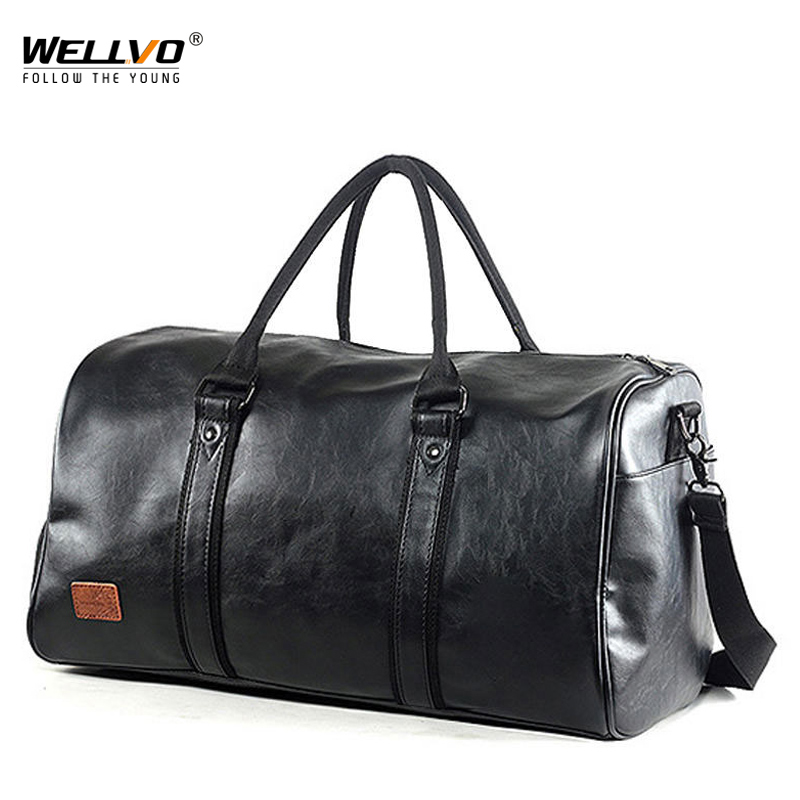 Fashion Men Travel Bags Waterproof Luggage Handbag Duffel Bags Large Capacity Trip Bag Weekend Bags PU Leather Handbags XA10C