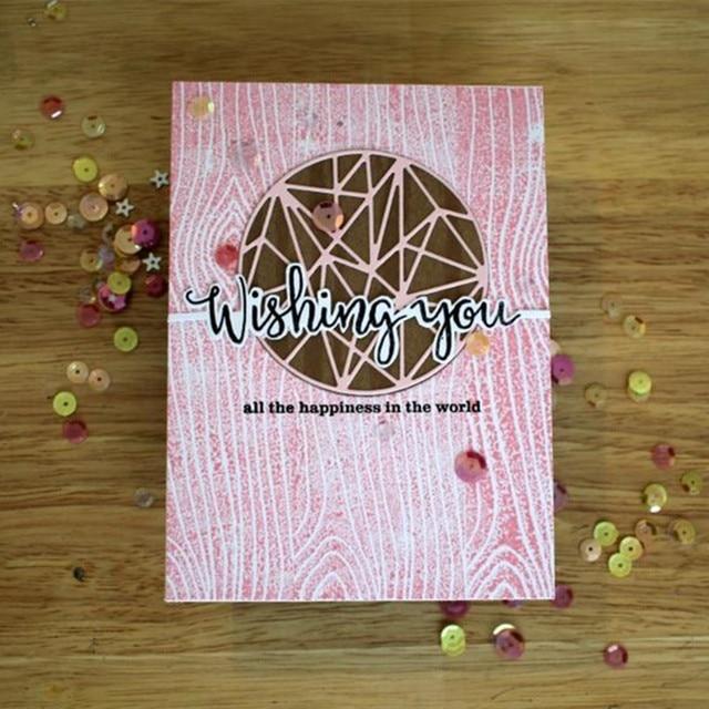 2 sztuk/zestaw Wieloaspektowy Koło Metalowe Cięcie Matryce Wzornik dla DIY Photo Album Scrapbooking Tłoczenie Kart Papieru Dekoracyjne Rzemiosła