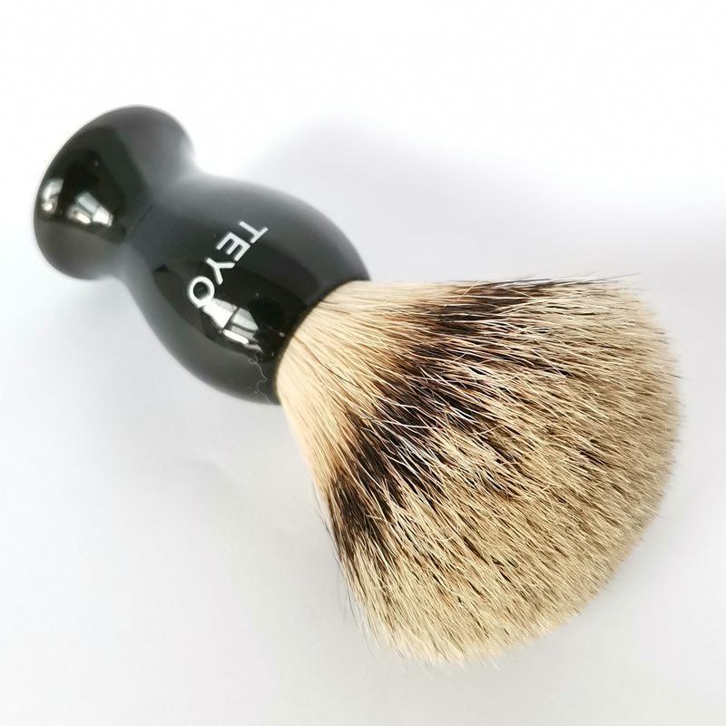 TEYO Shaving Brush Of  Silvertip Badger Hair With Gift Box Perfect For Wet Shave Safety Razor Double Edge Razor
