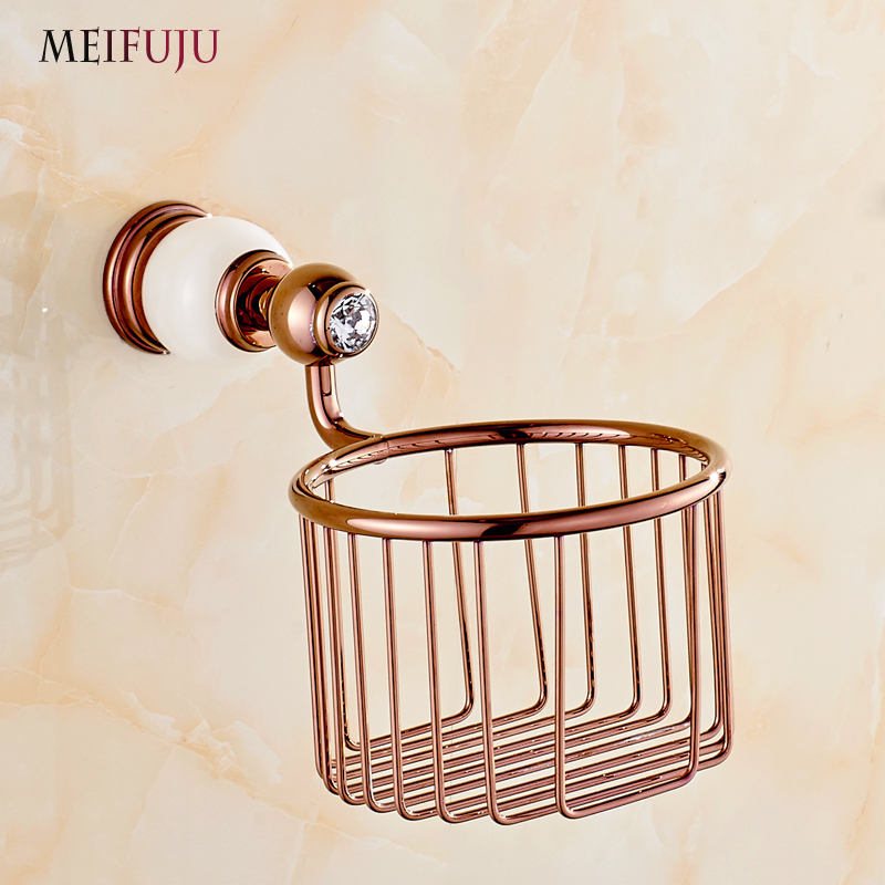rose gold bathroom accessories. Rose Gold Marble Toilet Roll Paper Bathroom Accessories Jade Copper Napkin  Holders Basket Tissue holder Hardware sets in from Home