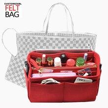 Neverfull MM GM PM Speedy Customizable Felt Purse Organizer Bag In  Tote Makeup Bag(w/Detachable Zip Pocke)