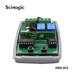 Image 2 - 12 24v DC 2 canali codice fisso apprendimento del codice e il codice di rotolamento 433.92 ricevitore trasporto libero