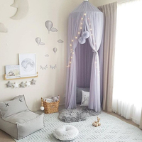 Baby Round decorations Crib Netting Bed Hanging Cotton Bed Canopy Mosquito Net Curtain For Hammock in The Babies Room Flag Decor