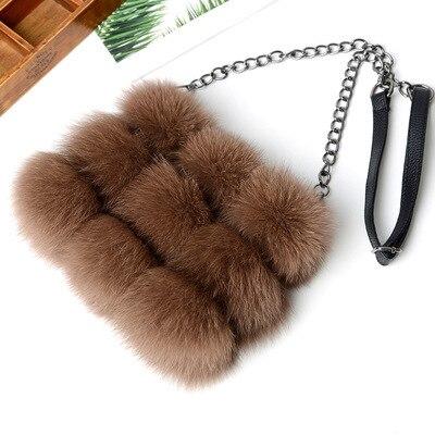 Природа настоящие волосы лиса женские клатчи лоскутное blosa вечерние сумка цепочки сумка на молнии Женский кошелек сумка