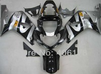 Hot Sales,gsxr aftermarket fairings For Suzuki GSXR600 750 01 03 Gray and Black Race Motorcycle Body Kit (Injection molding)
