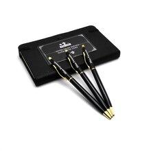 New design +super cheap Hot selling roller metal pen best gift for boss 2 colors sliver black/gold black classic ballpen