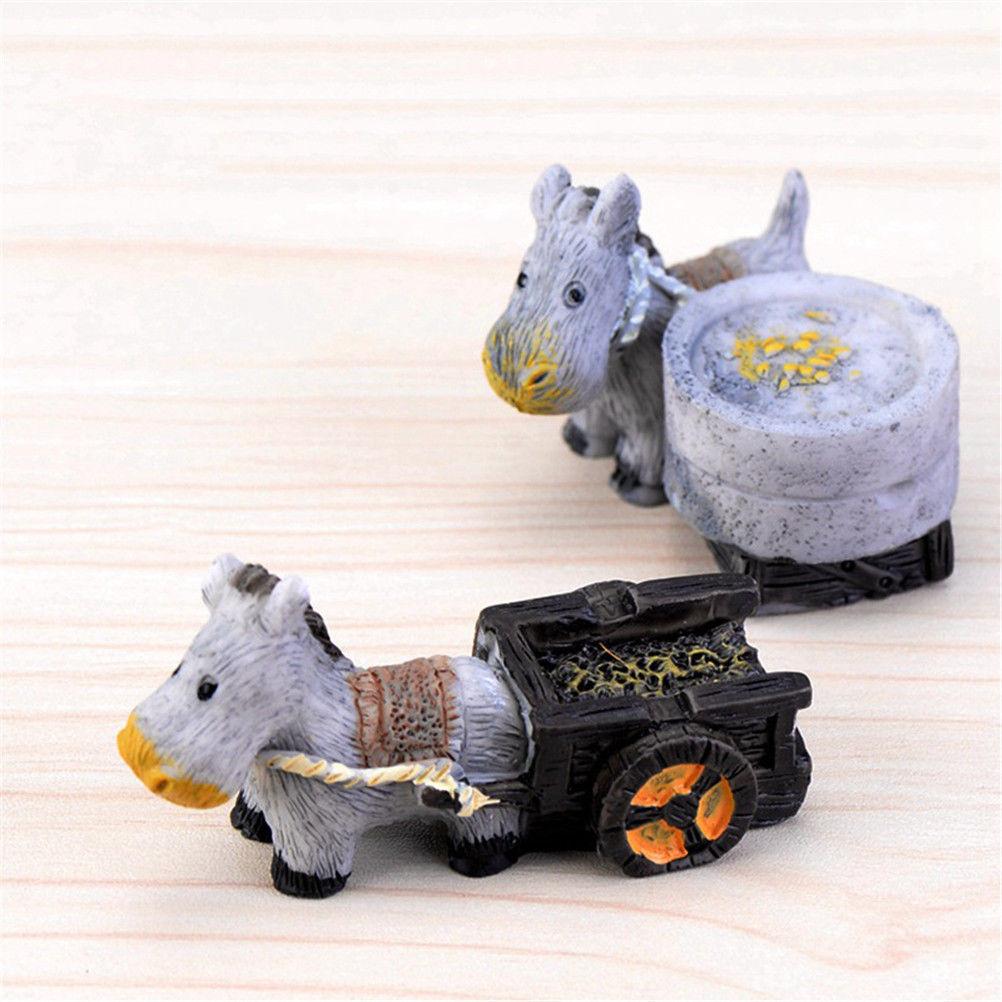 Gnome In Garden: 1PC Miniature Micro Lawn Ornament Mini Donkey Car Home