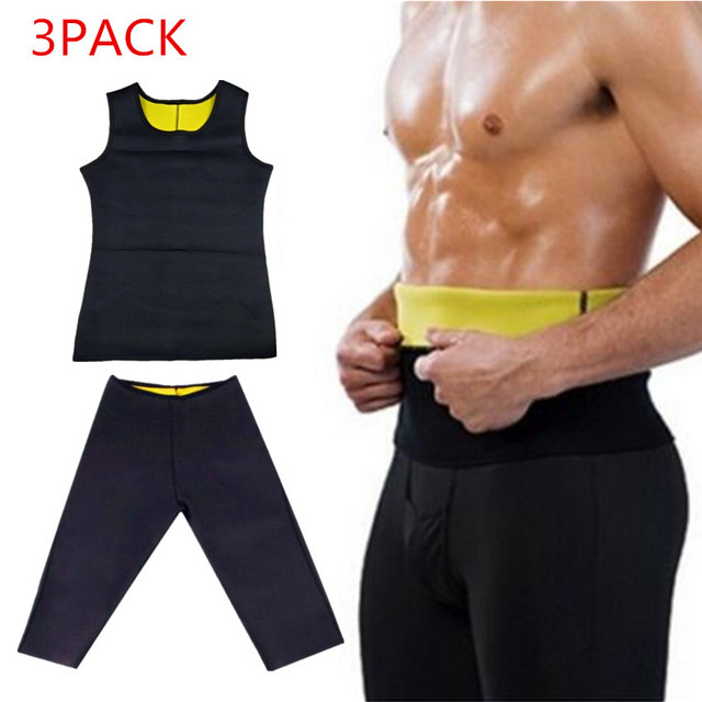 f517b28643965 Men Shapers Waist Trainer Control Pants Slimming Body Shaper Waist Corset  Men Slim Belt Sweat Workout