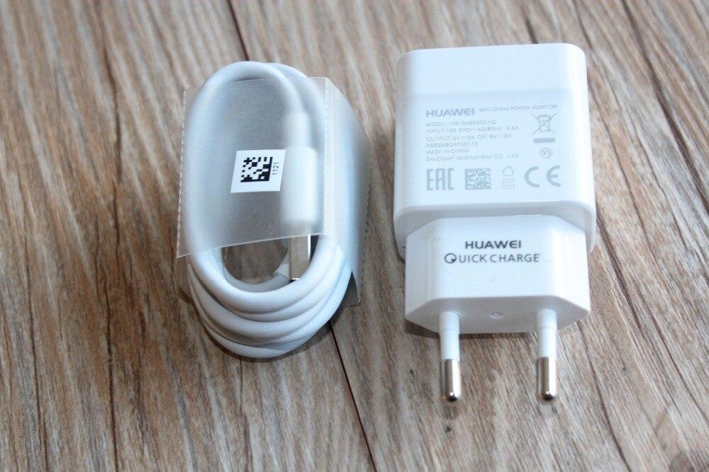 bilder für Original huawei 9 v/2a schnelle ladegerät adapter + usb3.1 typ c datenkabel für ascend p9/p9 plus honor 8/v8/hinweis 8/v9 magie