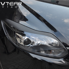 Vtera For Ford Focus 3 carbon fiber headlights brow sticker with double side glue Exterior styling accessory decoration products