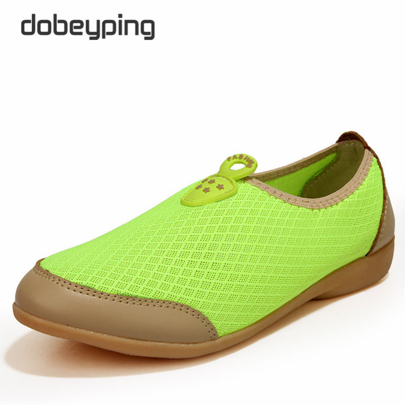 Summer Breathable Air Mesh Women's Casual Shoes New Slip On Female Flats Shoe Leisure Driving Shoes Women Soft Ladies Loafers  nis women air mesh shoes pink black red blue white flat casual shoe breathable hollow out flats ladies soft light zapatillas