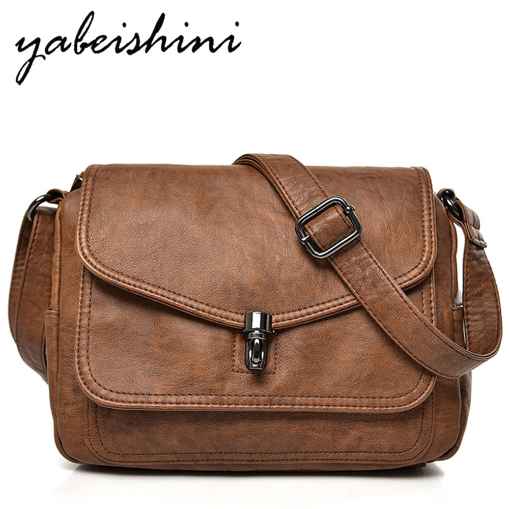 2-layer Clamshell Women's Messenger Bags For Leather Shoulder Bag Feminina Bolsa Luxury Handbags Women Bags Designer Sac A Main