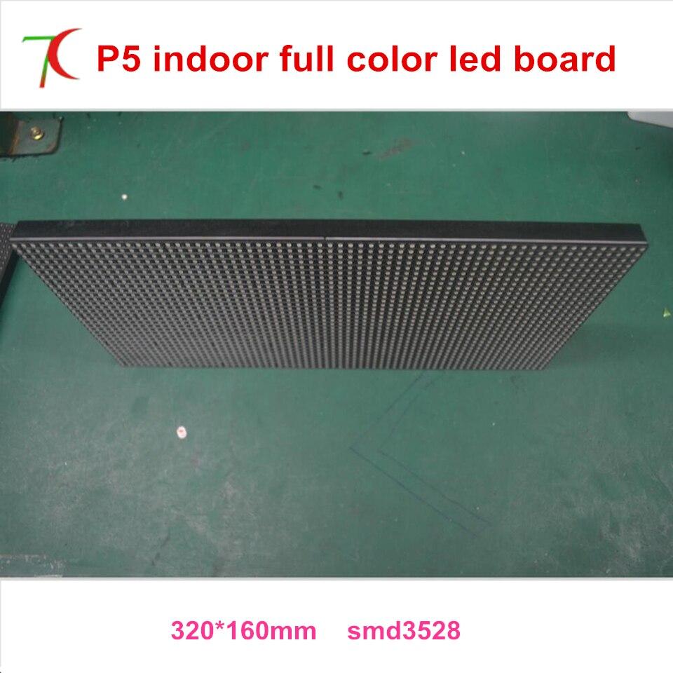 Normal brightness P5 smd3528 indoor 16scan full color led module 320 160mm 1800cd 40000dots sqm