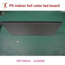 Нормальная яркость P5 SMD3528 Крытый 16 сканирования полноцветный светодиодный модуль. 320*160 мм, 1800CD, 40000 точек/кв. м.
