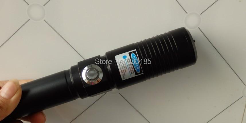 AAA High power blue laser pointer 500000m 450nm SOS flashlight lazer Burning Match/dry candle/black/Burn light cigars+glasses