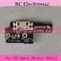 100% Novo Para ZTE nubia Z9 mini NX511J Prime Placa Do Módulo USB Doca de Carregamento do Porto de Substituição Em Estoque Testado
