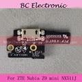 100% Nuevo Para ZTE nubia Z9 mini NX511J Primer Muelle Puerto de Carga USB Placa Del Módulo de Reemplazo En Stock Probado