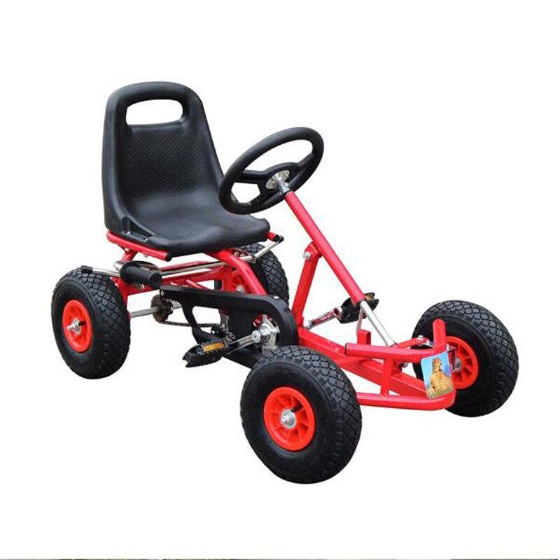 Kids Pedal Go Kart Ride On Rubber Wheels Sports Racing Toy Trike Car RICCO