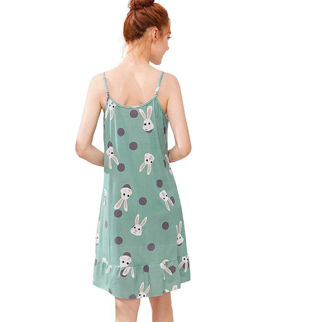 Платье на бретельках с оборками и принтом в виде героев мультфильмов, с маской для больших девочек, для подростков, для женщин, для ночного платья, милое